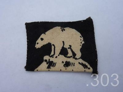 British Army 49th Division Iceland Force Polar Bear Cloth Formation Badge Patch