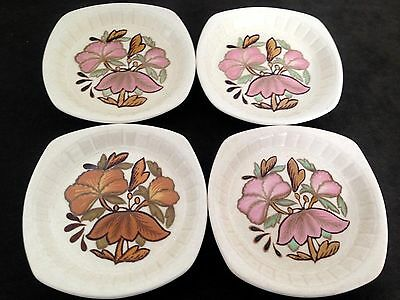 "Retro 1960s/70s Worcester Palissy ""Kismet"" Dishes x4"