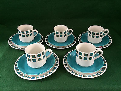 15 pcs MIDWINTER STYLECRAFT BERKELEY by JESSIE TAIT ~ CUPS / SAUCERS / TEA PLATE