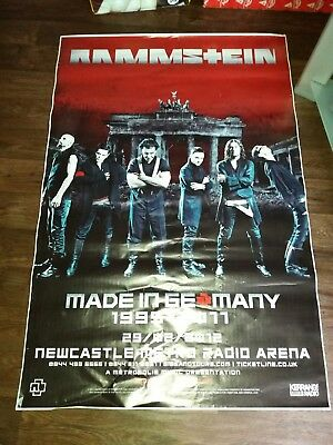 Rammstein promotional poster 5 ft high