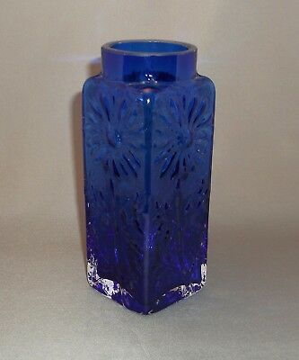 Frank Thrower Dartington Dark Blue Daisy (Marguerite) Vase.
