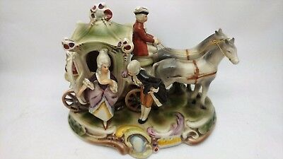 Carl Schneider - Grafenthal Porcelain 11867 - Courting Couple on Horse Carriage