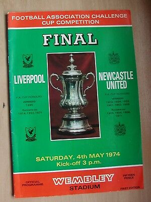 Liverpool v Newcastle FA Cup Final Programme 4th May 1974.
