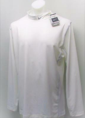 New Nike Golf Fitted Core Long sleeve mock collar white Base Layer XL