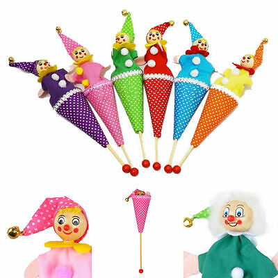 1 Pcs Clown Puppet Toy Baby Educational Pop Up Doll Styles Random WLWL