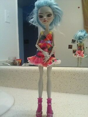 """OOAK Custom Monster High Repaint """"Ambergris"""" Clothed Doll"""