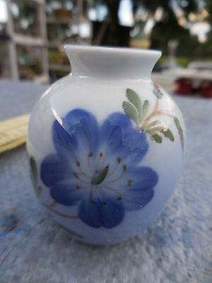 Royal Copenhagen Denmark Mini Miniature Bud Vase w/ Blue Flower #2800 / 1259