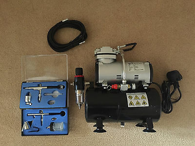 Airbrush Kit + Airbrush Compressor Air Brush Compressor (With Tank)