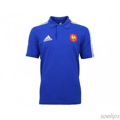 Rugby!ffr Xv De France Polo Officiel Adidas Taille L Neuf
