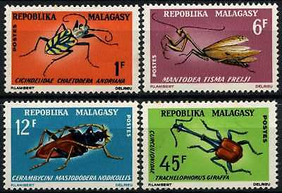 Malagasy 1966 SG#112-115 Insects MNH Set #D58853