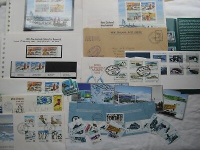 Collection of Ross Dep and Antarctic NZ Stamps and Covers
