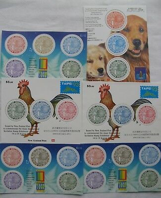 Collection New Zealand $Kiwi Miniature Sheets