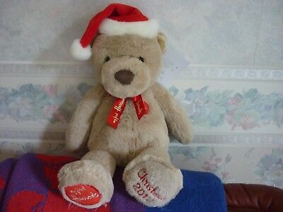 Harrods 2017 My First Christmas Teddy Brand New Labelled Foot Dated