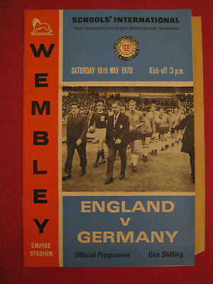 European Football Programme Championship England v Greece 21st April 1971.