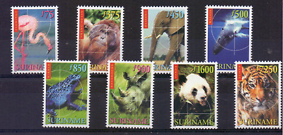 SURINAME Mi 1695-1702 MNH ** TIERARTEN, ANIMAL SPECIES, ESPÈCES ANIMALES 223