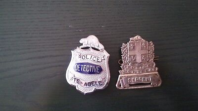 2 Police Official badge(Ste-Adele-Montreal