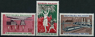 Malagasy 1968 SG#144-6 Five Year Plan MH Set #D58873
