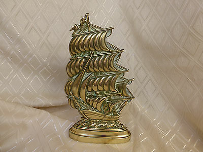 Lovely vintage heavy brass ship galleon companion stand