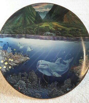 CHEZ PAUL,  porcelain collector plate, ROBERT LYN NELSON with certificate