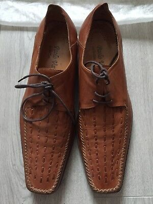 Paolo Vandini Mens Size 10 Tan Leather Shoes