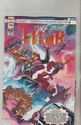 Marvel Comics Mighty Thor #700 December 2017 1St Print Nm