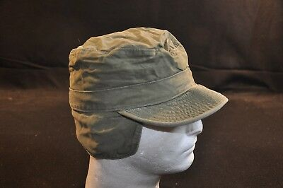 Korean War US Army Cap Field Cotton OD w/ Visor M1951 MASH Size 6 3/4 Good #14