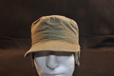 Korean War US Army Cap Field Cotton OD w/ Visor M1951 MASH Size 7 Damaged #16
