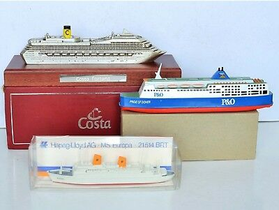BATEAUX PROMOTIONNELS COSTA FORTUNA, P&O PRIDE of DOVER, HAPAG-LLOYD MS EUROPA