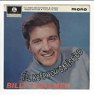 Billy J. Kramer Uk 7''  Ep I'll Keep You Satisfied  In Vg/ Vg-  Con