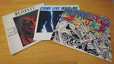 """Heaven 17 - 3 x UK 12"""" singles - Wheels of Industry, Live With Me, .... Fighting"""