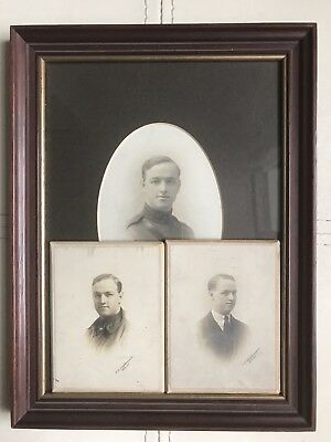 WW1 RFC Officer Photos In Later Frame