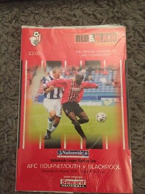 Bournemouth V Blackpool. August 2001. First 1St Game At Dorchester