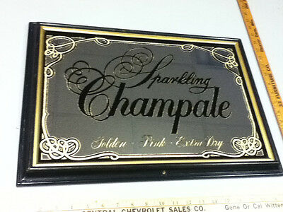 Sparkling Champale vintage bar signs mirrors 1 mirror Golden Pink Extra Dry WU5