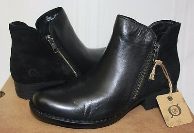 Born Women/'s Jem shooties Black Leather boots New With Box!