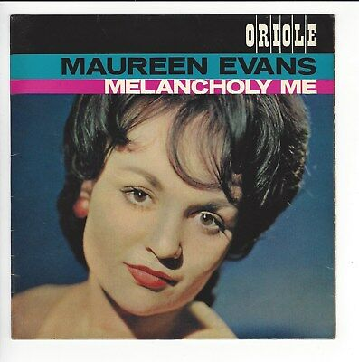 Maureen Evans Uk  7'' Ep  Melancholy Me  In Vg+ / Vg+  Con