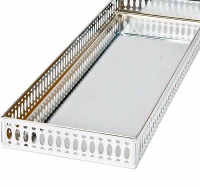 Taymor Chrome Large Vanity Tray Silver