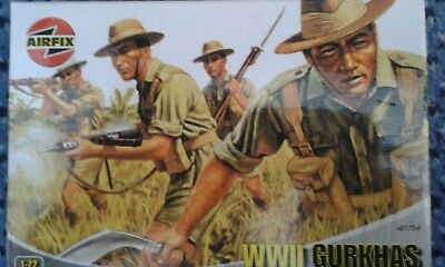 WWII GURKHAS AIRFIX SOLDIERS 1:72 SCALE ref A01754