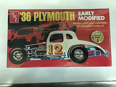 AMT - 1936 PLYMOUTH EARLY MODIFIED RACE CAR - MODEL KIT  (Sealed in Cellophane)