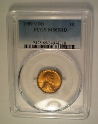 1909 Vdb Lincoln Cent Pcgs Ms 65 Red