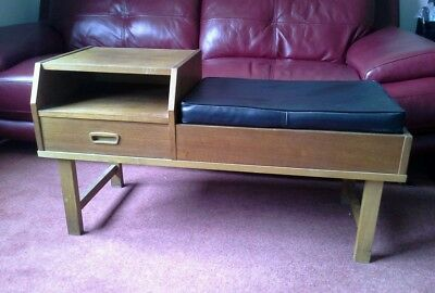 Vintage retro telephone table seat(collection only Chester)