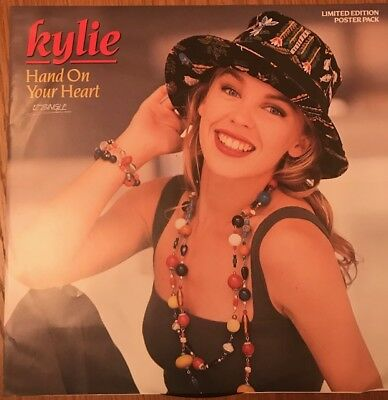 """Kylie Minogue Hand On Your Heart AUSTRALIAN Festival 12"""" POSTER SLEEVE"""