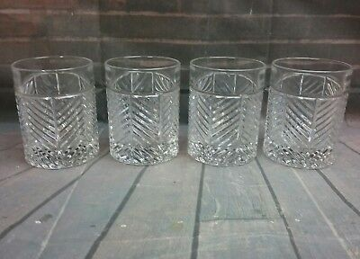 Vintage Crystal Glass Tumbler set of 4 Heavy