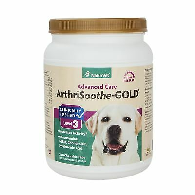 NaturVet ARTHRISOOTHE GOLD Healthy Hip Joint Mobility Stage 3 For Dogs 240 Tabs