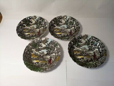 "Set of THREE Myott The Hunter 6 3/8"" Coupe Cereal Bowls"