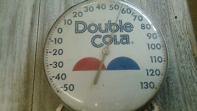 vintage 1980s round advertising DOUBLE COLA thermometer.  jumbo dial NIB