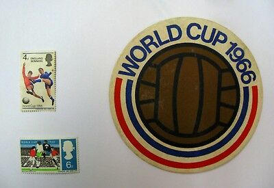 1966 World Cup Football Memorabilia - Beer Mat and Stamps