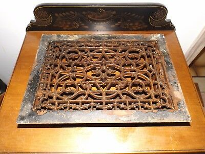 Antique 1800's - Early 1900's Victorian Cast Iron Hot Air Duct Register Cover