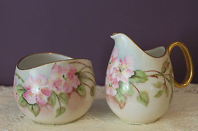Continental China Germany Raymond Loewy Cream And Sugar Apple Blossom Signed