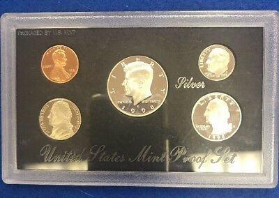 1998 S US Mint Silver Proof Set No BOX COA