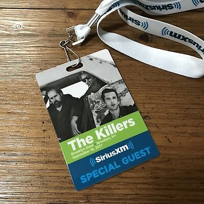 The Killers Brooklyn Steel Sirius Concert Guest Pass 2017 Wonderful Wonderful